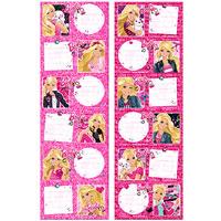 1x6 darab Barbie etikett