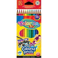 Colorino Kids Aquarell Sz�nesceruza - 12 darabos + Ecset - hexagonal - 33039PTR