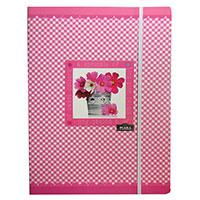 Rózsaszín virágos gumis mappa - Geo Flora Pink - A4