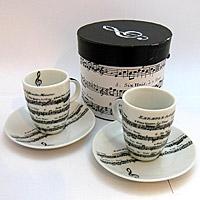 Adagio Porcel�n Espressz�s Cs�sze szett - 2 darabos