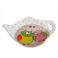 Baglyos teafilter tart� - porcel�n