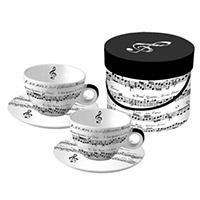 Hangjegyes kávés szett dobozban - 2 személyes - Adagio
