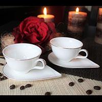 Paros porcelán eszpresszo kávéskészlet - 2 személyes