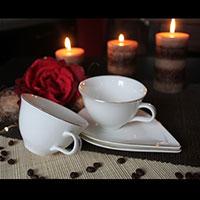Paros porcelán teás/kávés készlet - 2 személyes