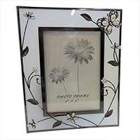 Pillangós-virágos fényképkeret - Tiffany-s