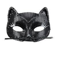 Fekete cica álarc - flitteres