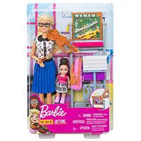 72100105bff8 Barbie baba zenetanár játékszett tanítvánnyal és kiegészítőkkel - Mattel -  JS-DHB63-FXP18 -