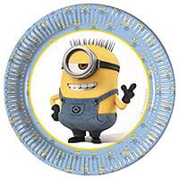 Minions parti tányér - 20 cm - 8 darabos