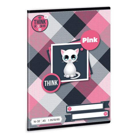 Think-Pink füzet - A5 1. osztályos vonalazású - 14-32 31c04483b1