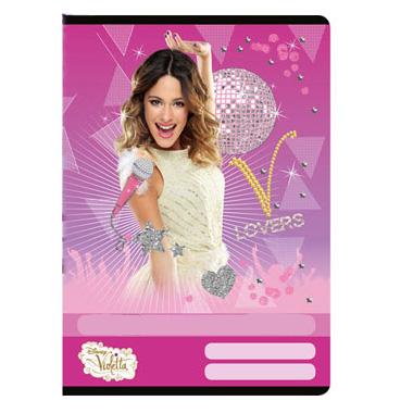 1 darab Violetta vonalas füzet - A4 - pink