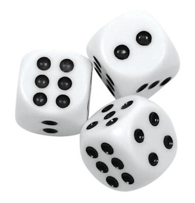 3 darab dobókocka