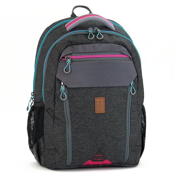 ef0dd9b44cd9 Ars Una ergonómikus hátizsák - szürke/rózsaszín