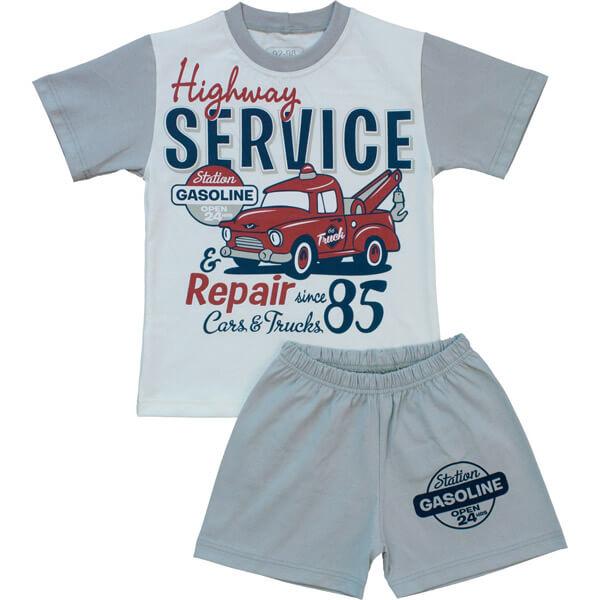 Autós nyári pizsama. Autós pizsama fiúknak. Rövidnadrágos 012453906d