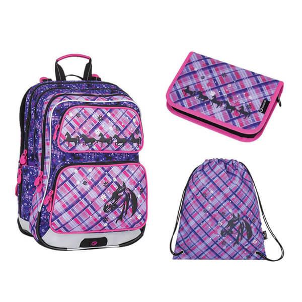 Bagmaster iskolai hátizsák szett - 3 részes - lovas 590428277e
