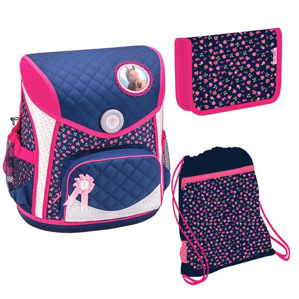 d92cc0bc0da5 Belmil Cool Bag mágneszáras ergonómikus iskolatáska szett - Blue Riding  Horse