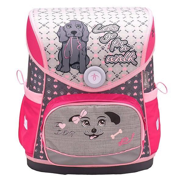 e53dab585257 Belmil mágneszáras ergonómikus iskolatáska - I Love Dog kutyás