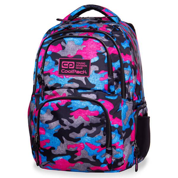 076e18047ca4 Cool Pack Aero iskolai hátizsák - 28 literes - színes terepszínű Camo  Fusion Pink