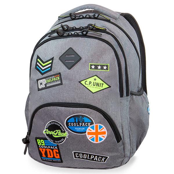 fad4345d8173 Cool Pack Badges Bentley hátizsák laptoptartóval - 30 literes - Badges Grey