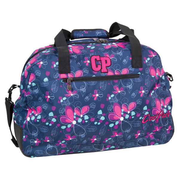 Cool Pack sporttáska / strandtáska - kék/pink virágos