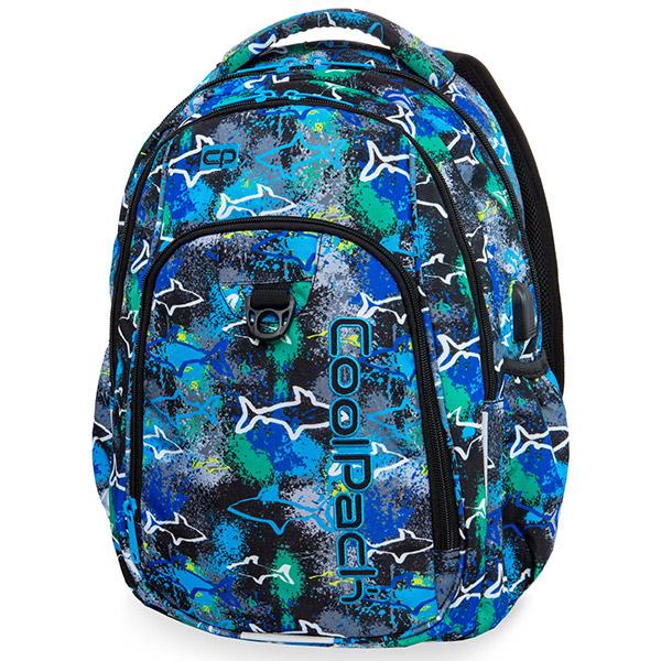 1951e8640c4b Cool Pack Strike iskolai hátizsák - 27 literes - Sharks cápás