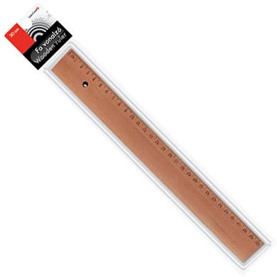 Fa vonalzó - 30 cm