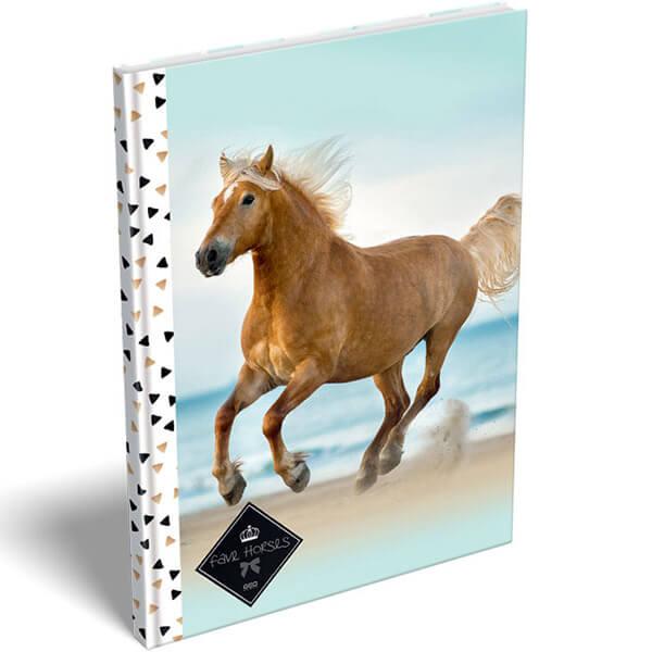 Geo Horse Beach lovas keményfedeles notesz - A5 bac75d0bf2