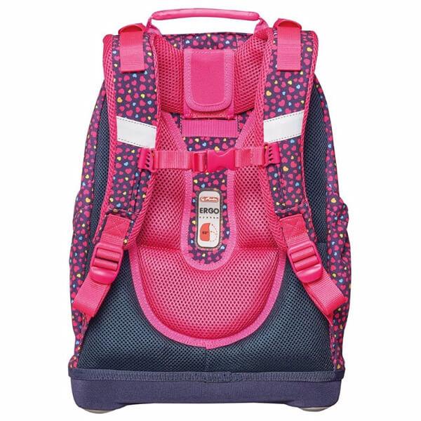 59b1e318a47d Herlitz Bliss ergonomikus iskolai hátizsák - Pink Hearts - 50014002 -