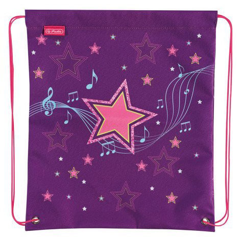 7cfa82c26295 Herlitz hangjegyes tornazsák - Melody Star - lila