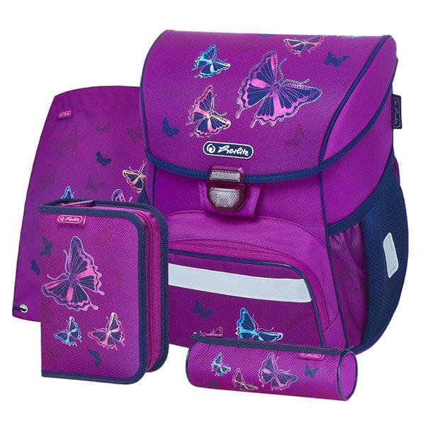5383baf0a831 Herlitz Loop Ergonomikus iskolatáska szett - Glitter Butterfly pillangós