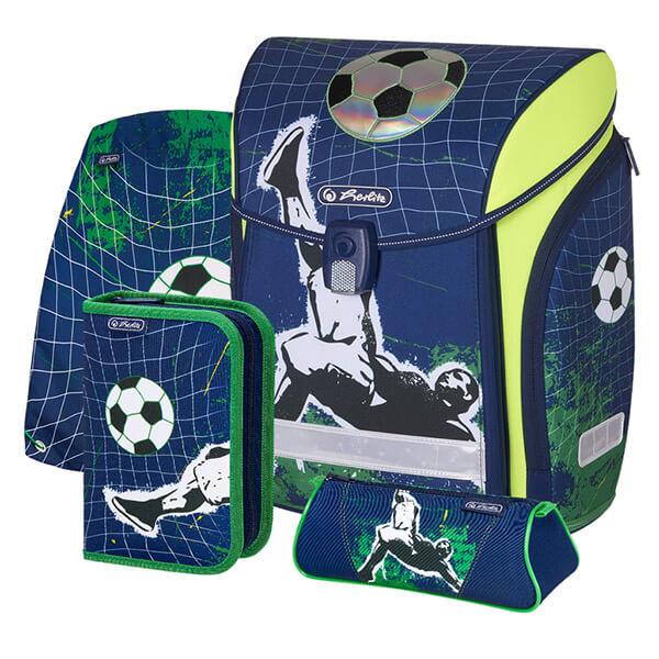 5431a91121e9 Herlitz Midi Plus Mágneszáras iskolatáska szett - töltött - Kick it focis
