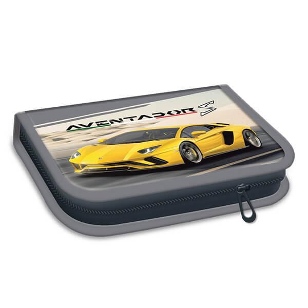 Lamborghini töltött tolltartó - sárga