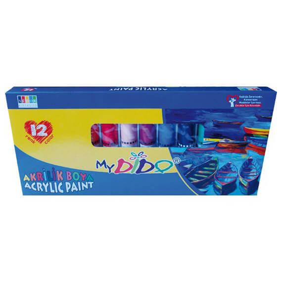 MyDido akrilfesték készlet - 12x9 ml