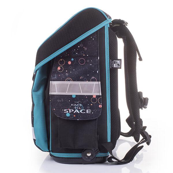 581108a70125 Rakétás Prémium Flexi anatómiai iskolatáska – fekete/kék. -9%
