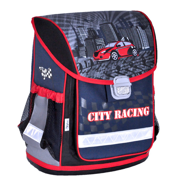 REY BAG Ergónomikus Iskolatáska - City Racing Autós