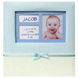 Babás bedugós fényképalbum - 200 db 10x15 cm - kék