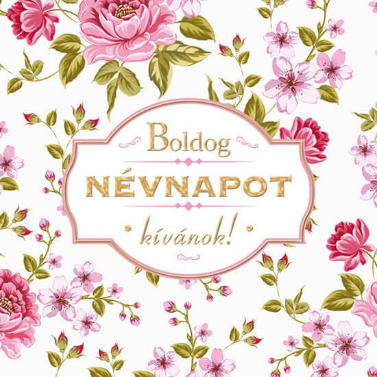 boldog névnap Boldog Névnapot képeslap   négyzetes   rózsás   LIZ NA08   boldog névnap