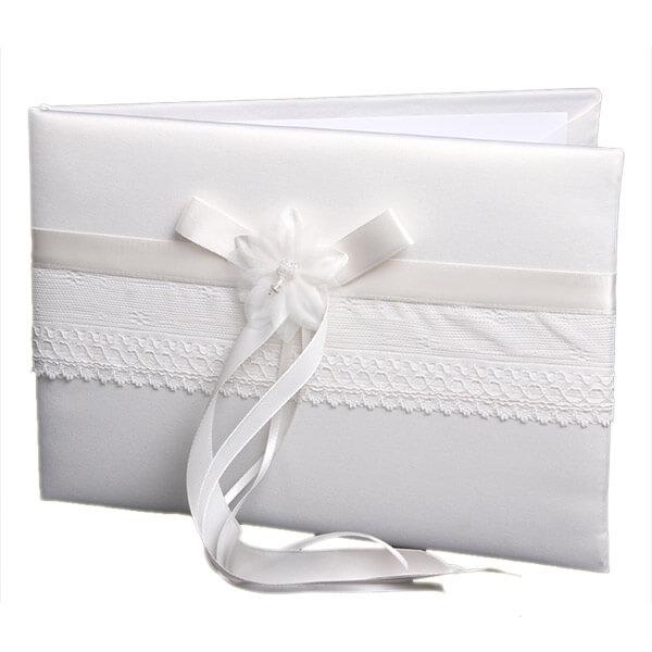 6d4c2dfff4 Esküvői vendégkönyv csipkével, szalaggal - Q485314 -