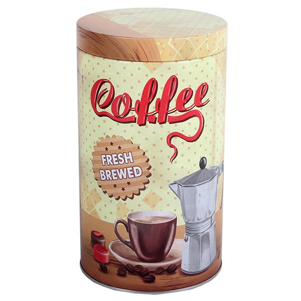 Kávés fémdoboz - Coffee - kis szépséghibával