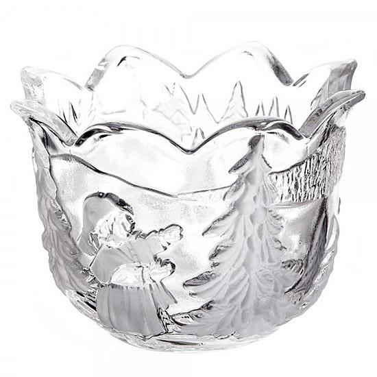 Walther-Glas Karácsonyi mécsestartó + ajándék teamécses - 7,5 cm BFF