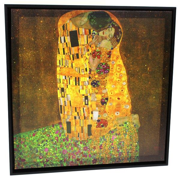 Klimt A csók falikép műanyag keretben - 40x40 cm 4950355d49