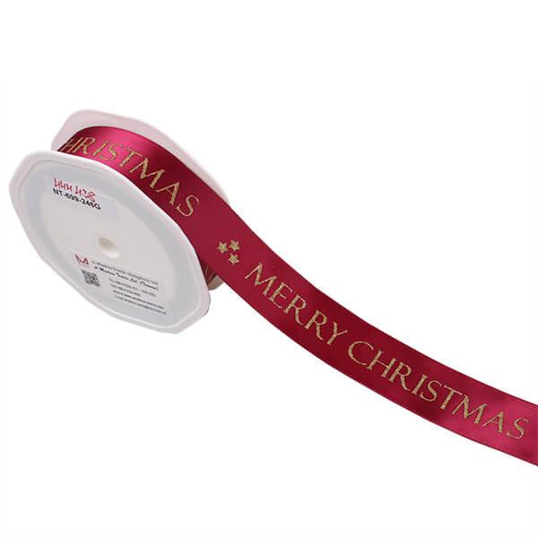 MERRY CHRISTMAS feliratú szatén szalag - bordó fd9eecf36c