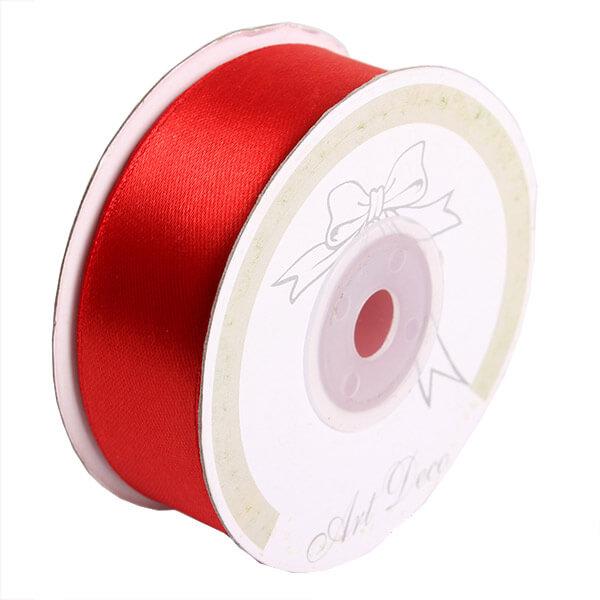 Piros szatén szalag - 25 mm x 25 méter ab43a33c0e