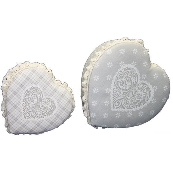Textil bevonatos szív alakú doboz szett - 2 darabos c9db175105