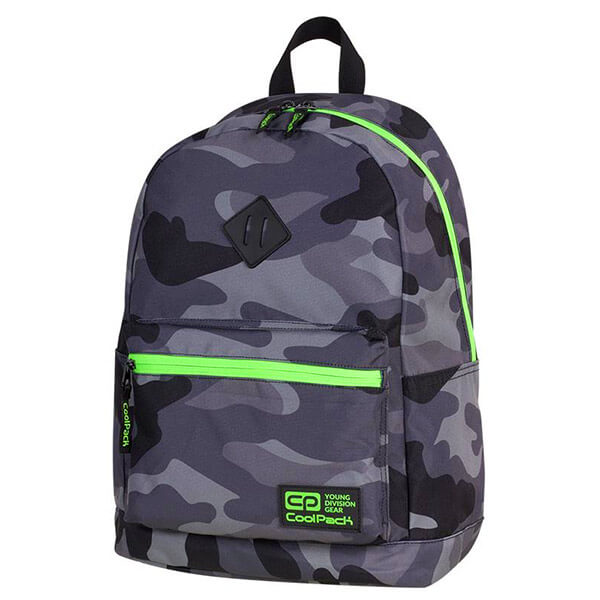 fbdec6e96318 Cool Pack Cross hátizsák - 25 literes - Camo Green Neon - 91558CP -