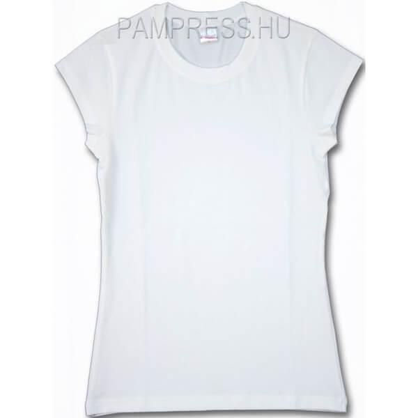 Elasztikus női póló - fehér Elasztikus női póló - fehér 16dd74f3d7