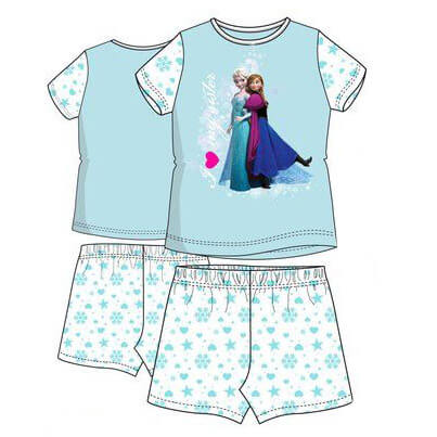 Jégvarázs nyári pizsama - kék efba64239b