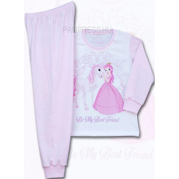 Lovas és Hercegnő mintás pizsama kislányoknak e88c821b64