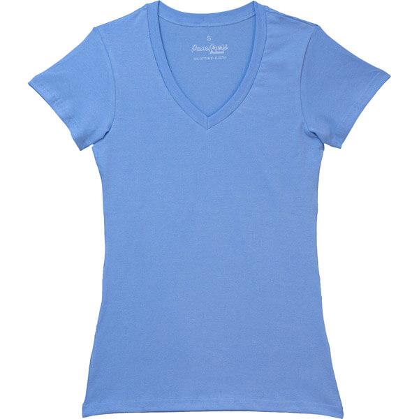 Pampress női V-nyakú rövidujjú póló - kék - RPPAM80232 - 8be8231199