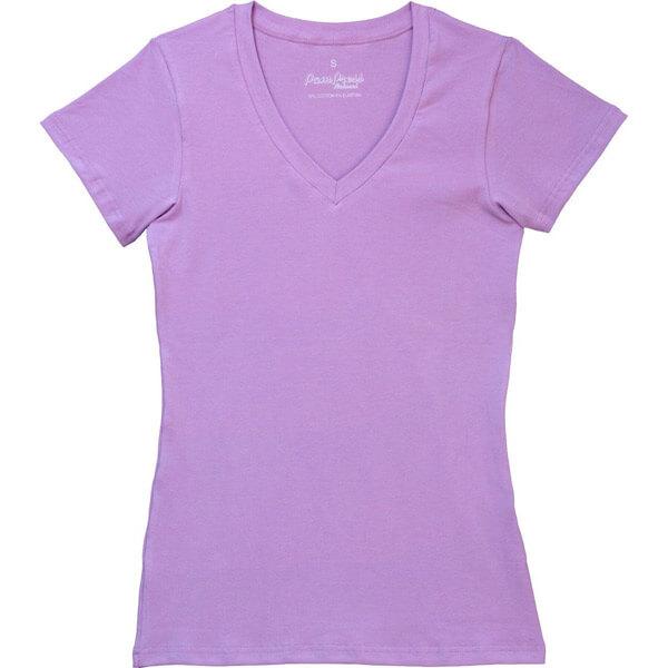 Pampress női V-nyakú rövidujjú póló - lila ca15604cd5