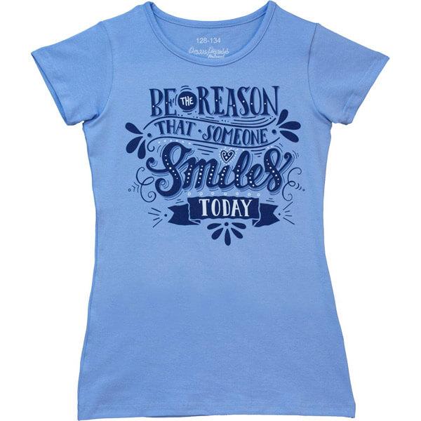 Smiles rövidujjú póló lányoknak - kék ce1576d2a3